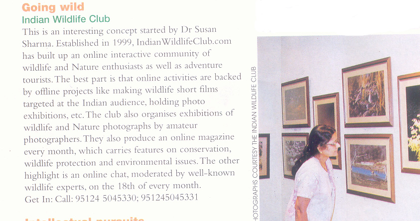 Indian Wildlife Club in Femina Scan