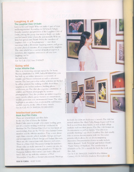 Indian Wildlife Club in Femina Scan2